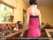 Cheating Husband Fucks Young Blonde In Kitchen
