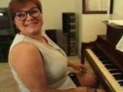 Chubby mature plays piano then plays with dicks