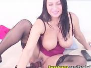 Huge Titties Deep Dildo Penetration HD