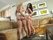 Two Big Ass Girls in a Threesome