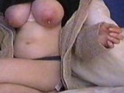 MILF milks her massive utters!