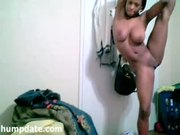 Beautiful black teen shows her sexy body