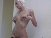 Sexy Melissa Monroe Stripping and Showing Her Asset