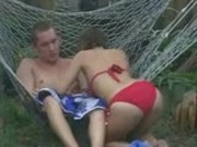 Hammock foreplay backyard fun