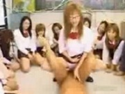 Tons of asian schoolgirl making out with their teachers