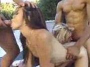 Two sluts fucked anal