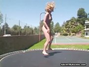 Trampoline chick squirted