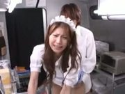 Hot japanese girl fucking street food vendor