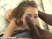 Riley Reid and HUGE Black Cock in ASS and Hairy Pussy
