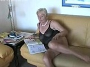 Older lady in sexy lingerie