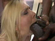 Julie Night takes two in the mouth