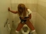 Allysin Chaynes hot bathroom blowjob