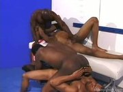 Black Orgy in Locker Room