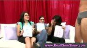 Cfnm classy group girls cock play