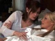 Passionate Lesbian Couple Kissing