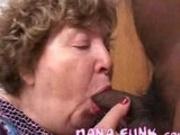 Horny grandma Nana Funk sucking cock
