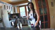 Black Angelika one hot sexy maid
