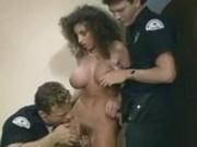 Brunette Decides To Fuck 2 Cops