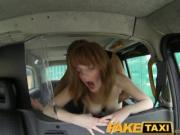 FakeTaxi - Innocent red head gets taxi scamed