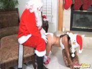 Sexy Asian Teen ARIEL SPINNER Santa Claus sex cock wet pussycandycane