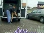 German fisted hard in a van