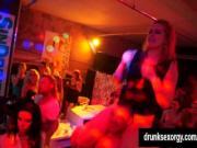 Horny party sluts gets masturbating in public