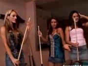 Lesbians Playing Pool