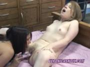Blonde Veronica is fucking a slut with her toys