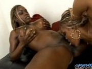 Dildo fucking ebony chicks