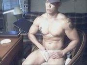 Muscle Asian Dude with HUGE DICK #2