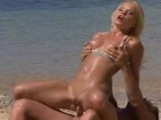 Sabine Mallory & Sharka Blue On The Beach