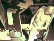 Security cam caught her masturbating