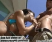 MILF fucks her poolmans massive dick