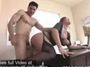 Secretary gets her Pussy fucked by her Boss