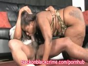 Thick Black Sista With A Throat Full Of Cock