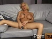 Big tit blonde facialised
