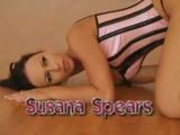 Beautiful Susana on the wooden floor
