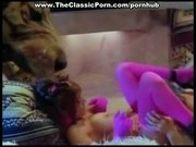Pink stockings girl from retro porn