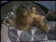Big titty girl loves nylon feet in her pussy