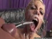 Hot Pornstar Blows On Cock