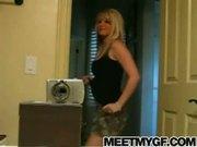 Blonde emo teen strip tease