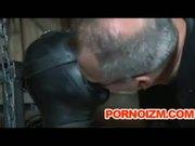 Pet Slave Bizarre BDSM Perverts Training Torture Cane and Outdoor