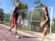 busty Asian gets her brown pussy fucked hard by her basketball coach