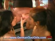 Adina and Perla go wild in orgy!