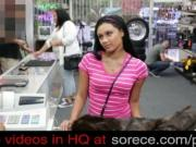Cutie fucking at pawn shop for European Journey