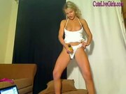gorgeous hot blonde platying with a dildo(4).wmv