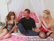 Roger Gets Double Pegged by Ms. Mila & the StrapOnPrincess