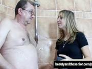 Teen Patricia take an old cock
