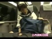 japanese schoolgiirl gives blowjob on train part 1
