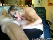Swinger couple sharing POV for webcam